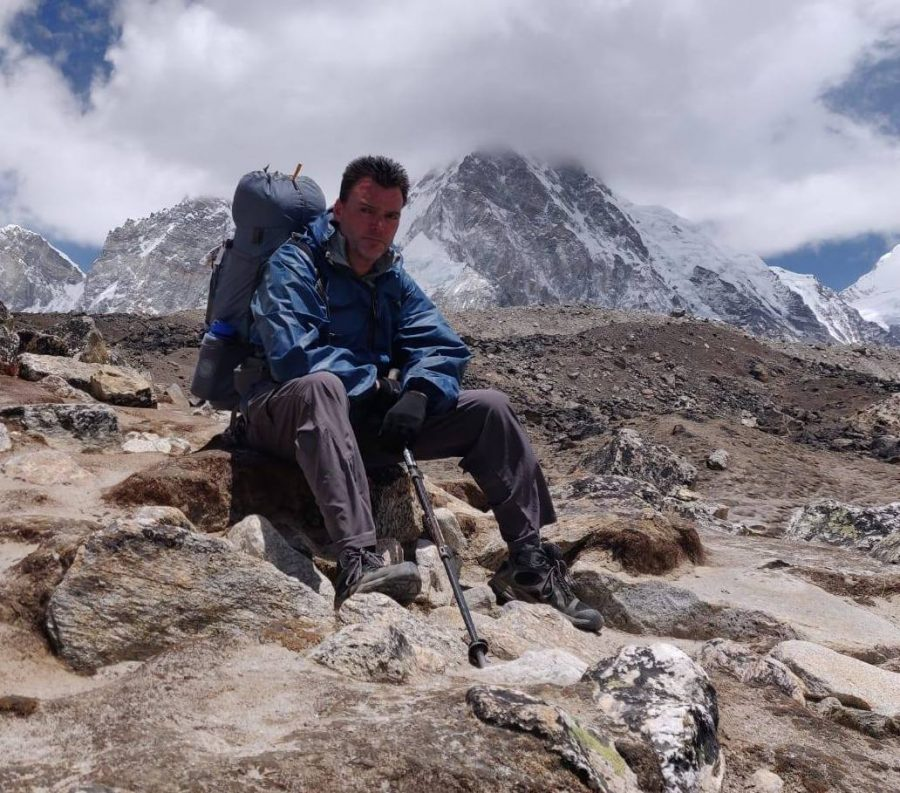 Professor Conor Roddy pictured in the Himalayas, a mountain range in Asia (pre-COVID).