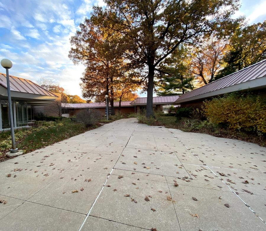 Fall, 2020: MCC's campus sits empty as students, staff, and faculty wait to return. Image courtesy of Eliza Christopher, Graphics Editor.